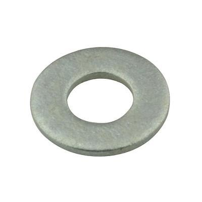 Qty 200 Flat Heavy Washer M12 (12mm) x 27.5mm x 2.25mm Galvanised HDG Galv Round
