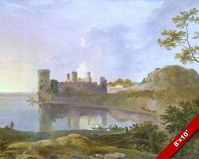 Caernarfon Castle Wales Welsh Summer British Painting Art Real Canvas Print