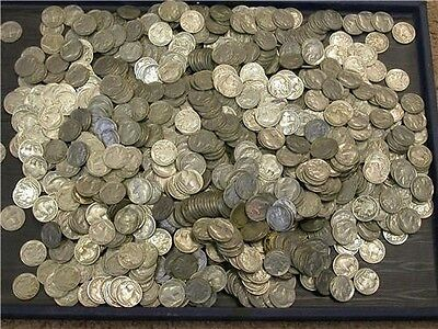 40 Buffalo Nickles W/ Dates, From  1930's  1 Roll