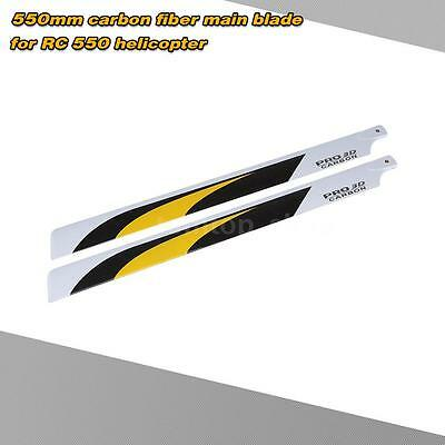 Carbon Fiber 550mm Main Blades for RC 550 Helicopter Extremely lightweight O3ZW