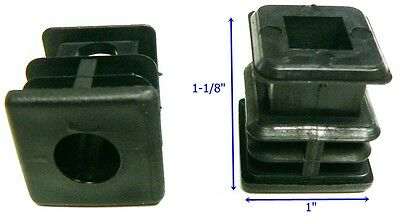 "Oajen caster socket furniture insert for 7/16"" stem, use with 1"" OD tube, 4 pcs"