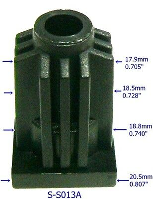 "Oajen S-S013A caster socket insert for socket stem, use with 13/16"" OD tube"