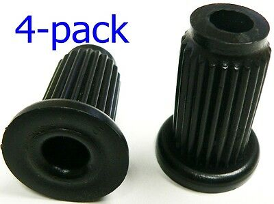 "Oajen caster socket for 7/16"" diameter grip ring stem, 4 pack, 1"" OD round 16 g"