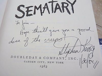 Stephen King Pet Semetary VINTAGE 1984 Signed Autographed Book PSA Certified