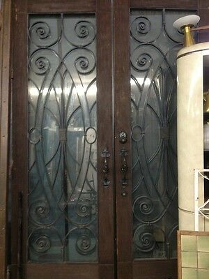 Spanish Iron And Glass Double Entry Doors