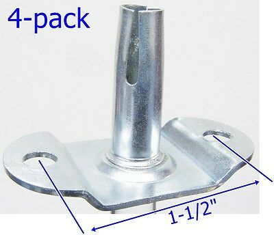 "Oajen caster socket furniture insert for 5/16"" x 1-1/2"" stem, 4-pack"