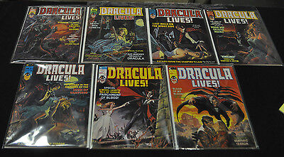 Marvel Dracula Lives!lot Of 7 Issues (7.5-9.0) 6-10,12,13. Nice Mid To High Lot!