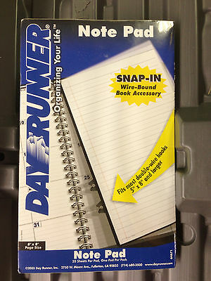 Day Runner 95704 Note Pads 3 count  Snap In wire bound book accessory