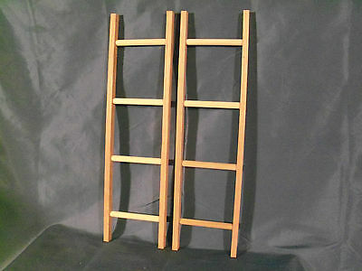 NEW Pedal car wooden ladders set of 2 fire trucks  MURRAY , AMF SAD FACE