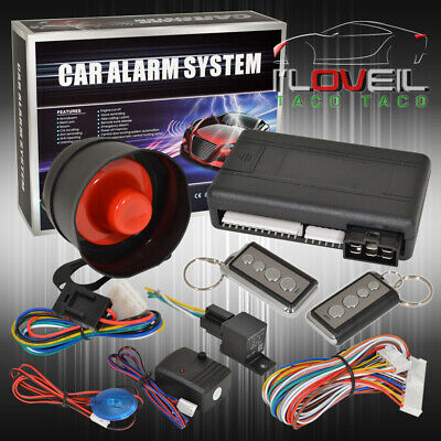 Jdm Remote Engine Start Car Alarm Security System W/ Wiring And For Nissan