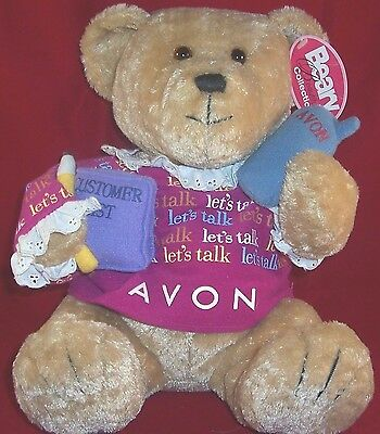 Avon Beary Beautiful Collection Lets Talk Bear Gabbigail