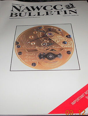 NAWCC Bulletin October 1994 Watch and Clock Collector