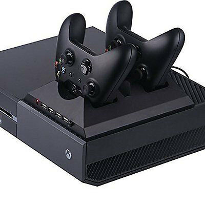 4in1 Charging Station With Cooling Turbo Fan 4 USB HUB For Xbox One Controller