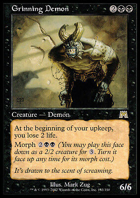 2x Demone Sghignazzante - Grinning Demon MTG MAGIC ONS Onslaught Ita/Eng