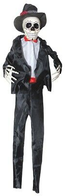 Hanging Day of the Dead Male Skeleton Halloween Decoration Prop NEW