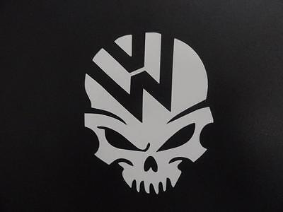 VW skull volkswagen jetta gti beetle ghia golf window sticker vinyl decal #237