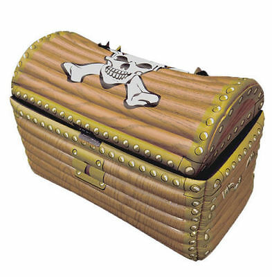 Inflatable Treasure Chest - 64 x 33 x 46cm - Blow Up Drinks Cooler Piarte Party