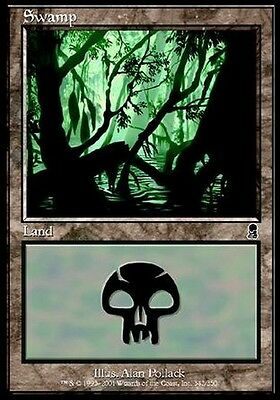 FOIL Palude 342 - Swamp 342 MTG MAGIC ODY Odyssey Ita/Eng
