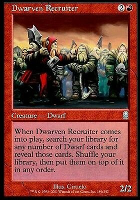 FOIL Reclutatore Nanesco - Dwarven Recruiter MTG MAGIC ODY Odyssey Ita/Eng
