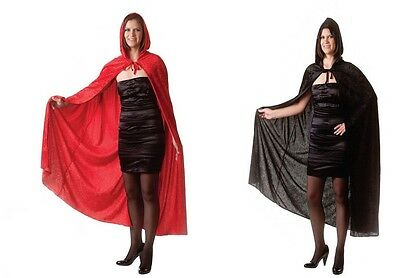 Women Adult 65 inches Velvet Hooded Vampire Cape Cloak Halloween Fancy Dress