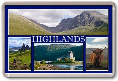 FRIDGE MAGNET - HIGHLANDS - Large - Scotland TOURIST