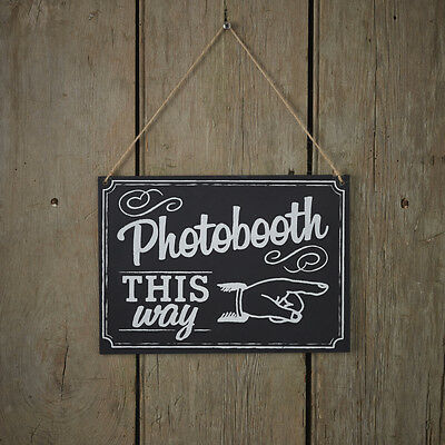 Vintage Affair - Chalkboard - Wooden Photo Booth Sign