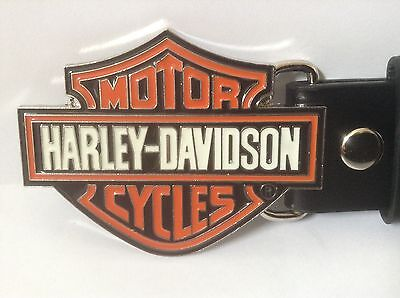 "Harley Davidson Buckle & Belt (All Sizes 30"" – 50"") HD Symbol Design"