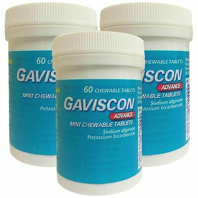 Gaviscon Advance Chewable 60 Tablets Mint - 3 Pack