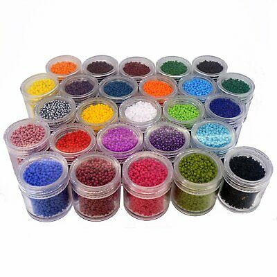 Wholesale Lot of 11/0 Glass Seed Beads Colors Jewelry Making Beading Supplies