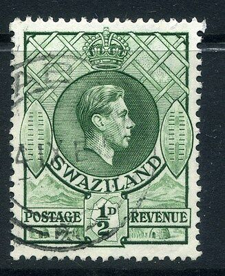 SWAZILAND;  1938 early GVI issue fine used 1/2d. value