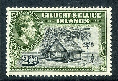 GILBERT ELLICE ISLANDS;  1938 early GVI issue fine Mint hinged 2.5d. value