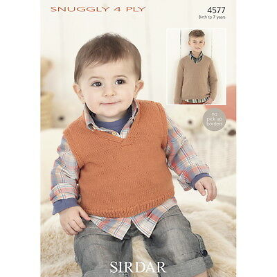 Sirdar Baby Sweater Cardigan Snuggly Knitting Pattern 4809 4 Ply