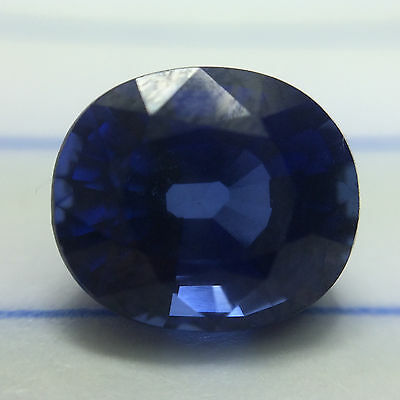 3.70 cts GLC Oval-cut Superior-luster IF Blue Sapphire
