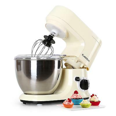 New 800W Cream 4 L Food Processor Dough Hook Kitchen Stand Mixer Stainless Steel
