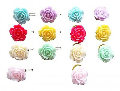 Cute Rose Pet Cat Small Dog Hair Bows Clips/Rubber Bands Grooming Accessories