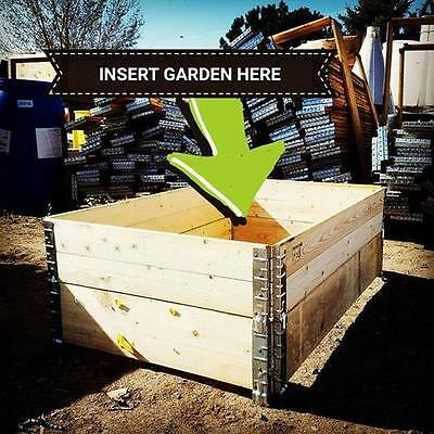 """Lot of 60 Raised Garden Beds Pallet Collars Heat Treated 45"""" x 29.5"""" x 7"""", Used"""