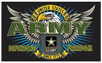 ARMY FIRST MISSION  3 X 5 military DELUXE FLAG #666 new polyester 3x5 banner NEW
