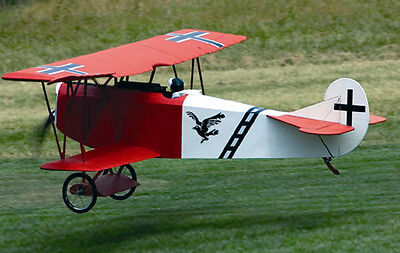 1/5 Scale FOKKER D7 scratch build r/c Plane Plans & instruction 75 in. wingspan