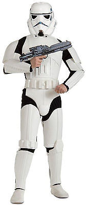 Star Wars Deluxe Stormtrooper Adult Mens Costume Fancy Dress Up, (One-Size)