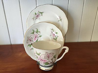 Queen Anne Floral Trio, Cup Saucer & Plate