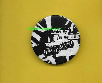 Sex Pistols 1976 uk punk badge button pinback SS Anarchy in the UK