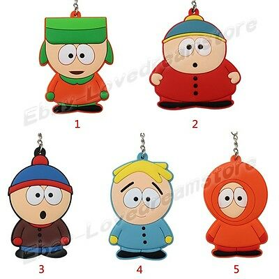 South Park Stan Marsh/Kyle/Eric/Kenny/Butters 13cm PVC Figure Key Ring Chain New