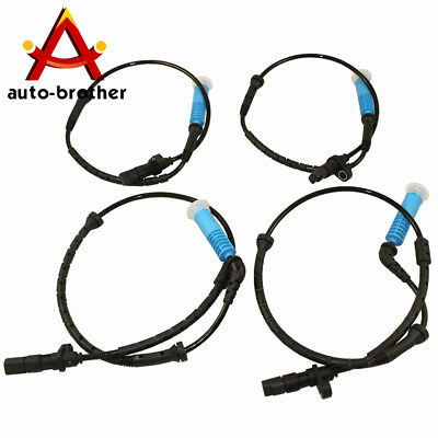 NEW ABS WHEEL SPEED SENSORS SET 4PC FRONT REAR LEFT RIGHT FOR BMW E53 X5 2000-04