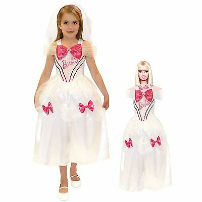 Girls Book Week Bride Princess Fancy Dress Costume with matching Barbie Costume