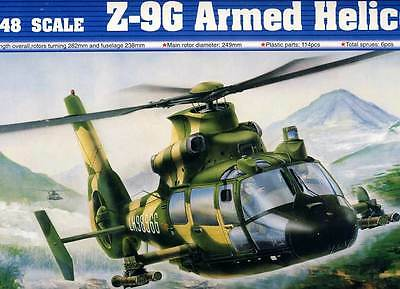 Trumpeter - Z-9G 9 G Armee Armed Helicopter China Modell-Bausatz - 1:48 NEU Tipp