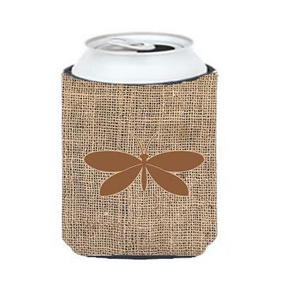 Carolines Treasures BB1055-BL-BN-CC Moth Burlap And Brown Can Or Bottle Hugger