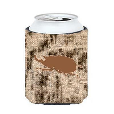 Carolines Treasures BB1064-BL-BN-CC Beetle Burlap And Brown Can Or Bottle Hugger