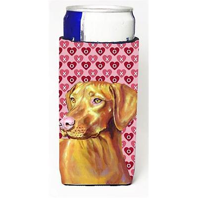Vizsla Hearts Love And Valentines Day Portrait Michelob Ultra s For Slim Cans...