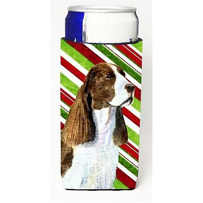 Springer Spaniel Candy Cane Holiday Christmas Michelob Ultra s For Slim Cans ...