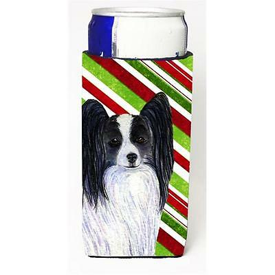 Papillon Candy Cane Holiday Christmas Michelob Ultra s For Slim Cans 12 oz.